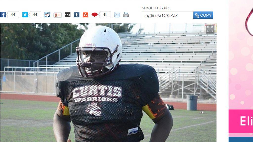 Un joven de 16 años muere practicando fútbol americano en un institudo de Nueva York
