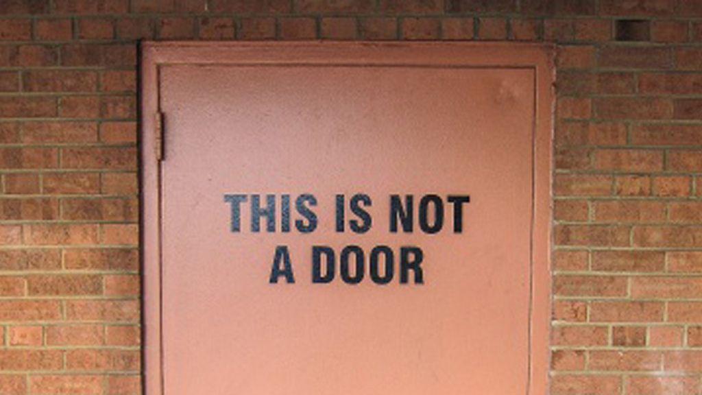 ¿No es una puerta?