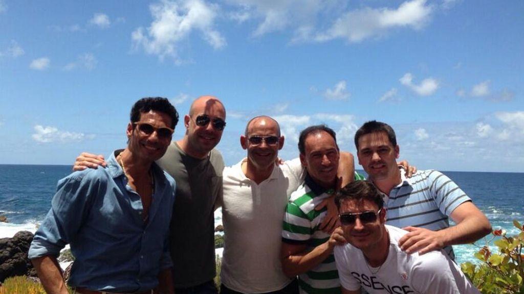 Pepe Reina y sus amios han aprendido a jugar al golf