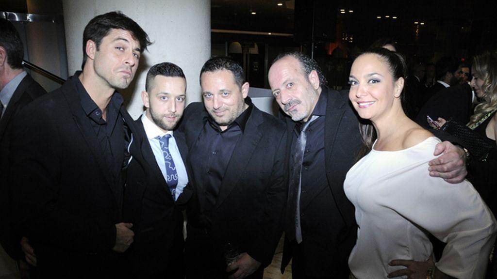 Hugo Silva, Manuel Piquer, Pepón Nieto, Manuel Tallafé y Raquel Infante