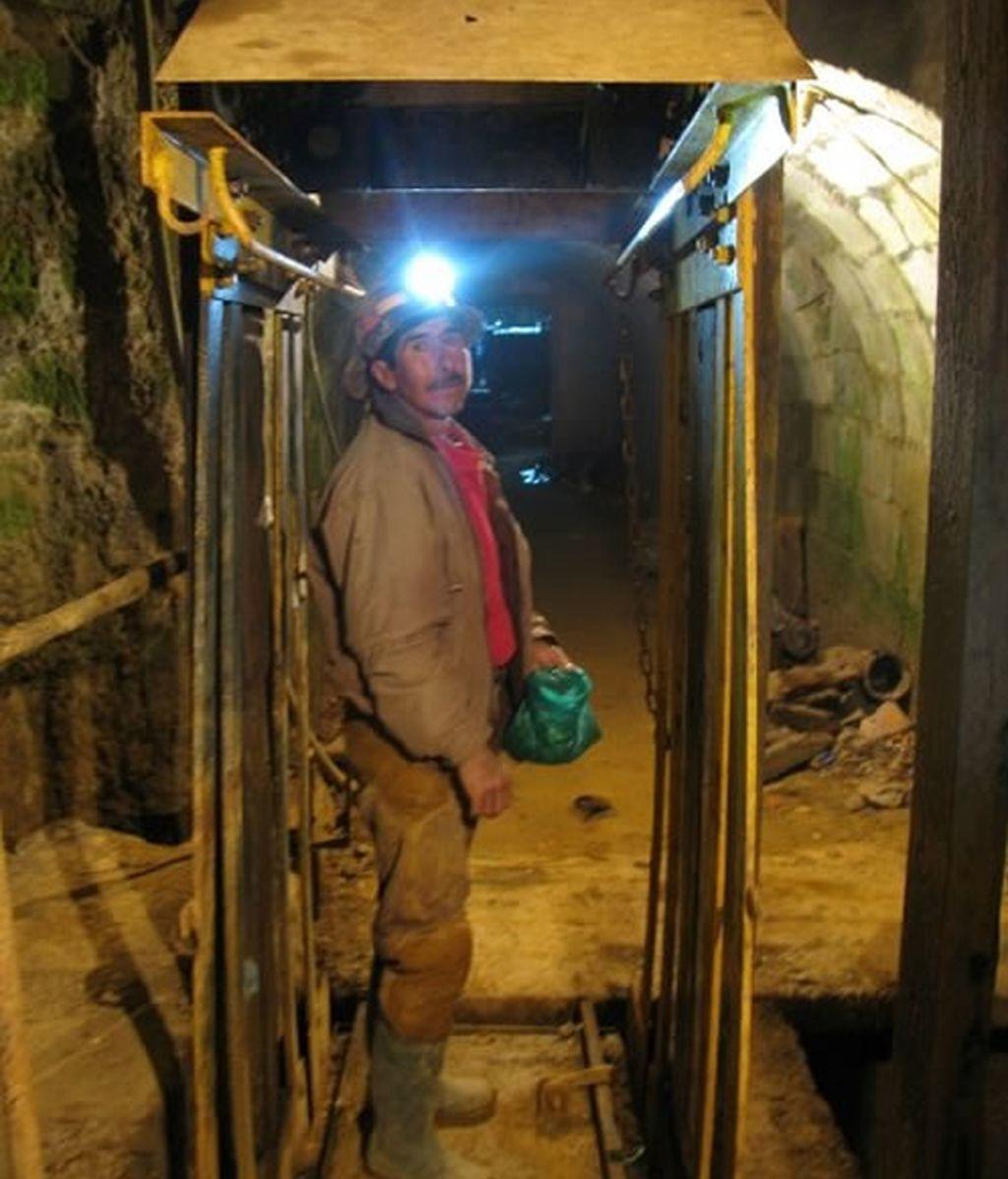 Un minero guía