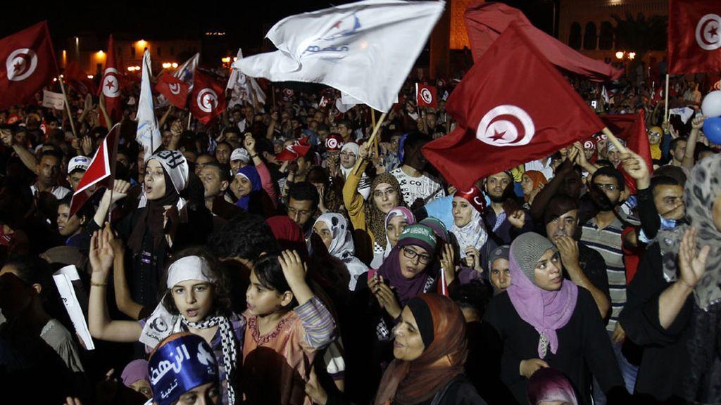 Manifestaciones pacíficas en Túnez