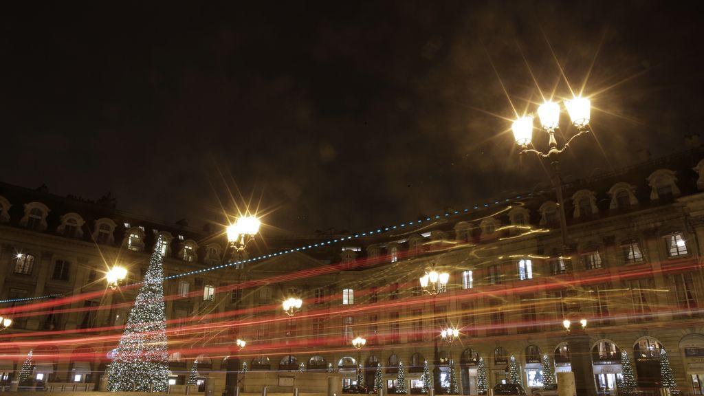 Luces de Navidad creadas por un coche