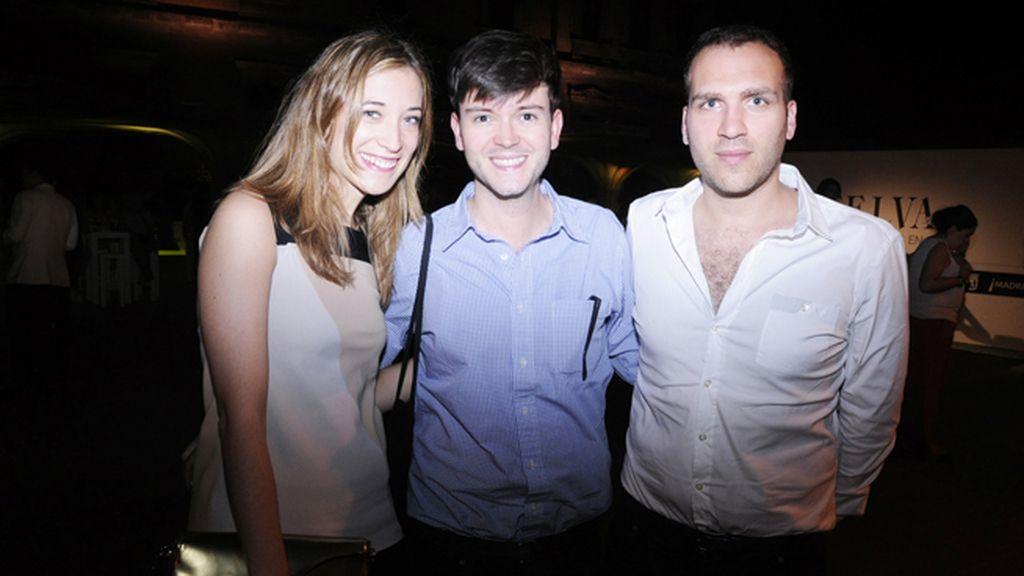 Celia Vals, Antonio Díaz y Nico Crison