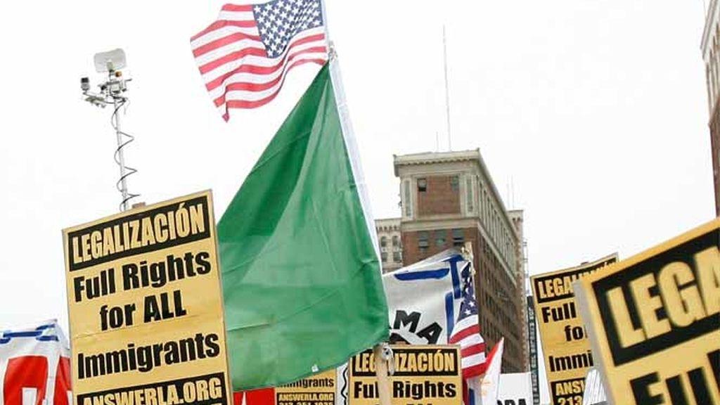 Los inmigrantes de EEUU protestan