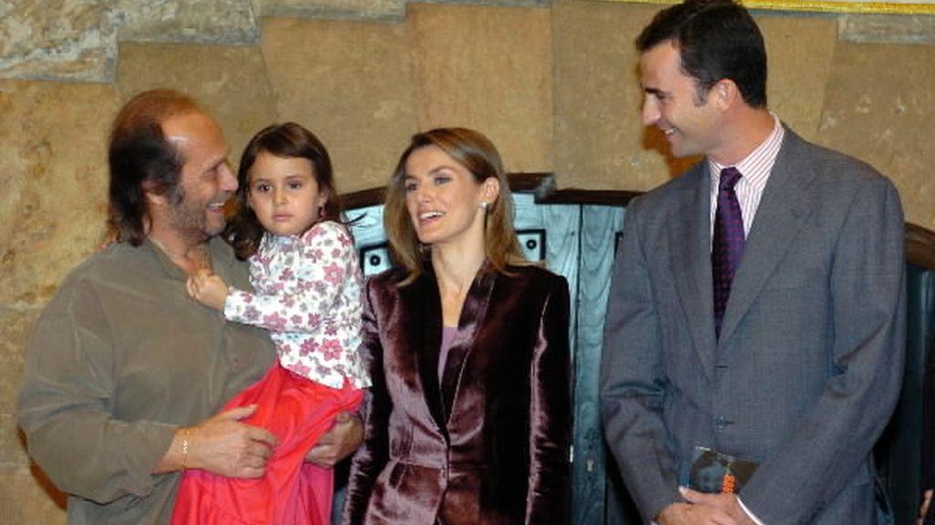 Con su hija Antonia en los Premios Príncipe de Asturias