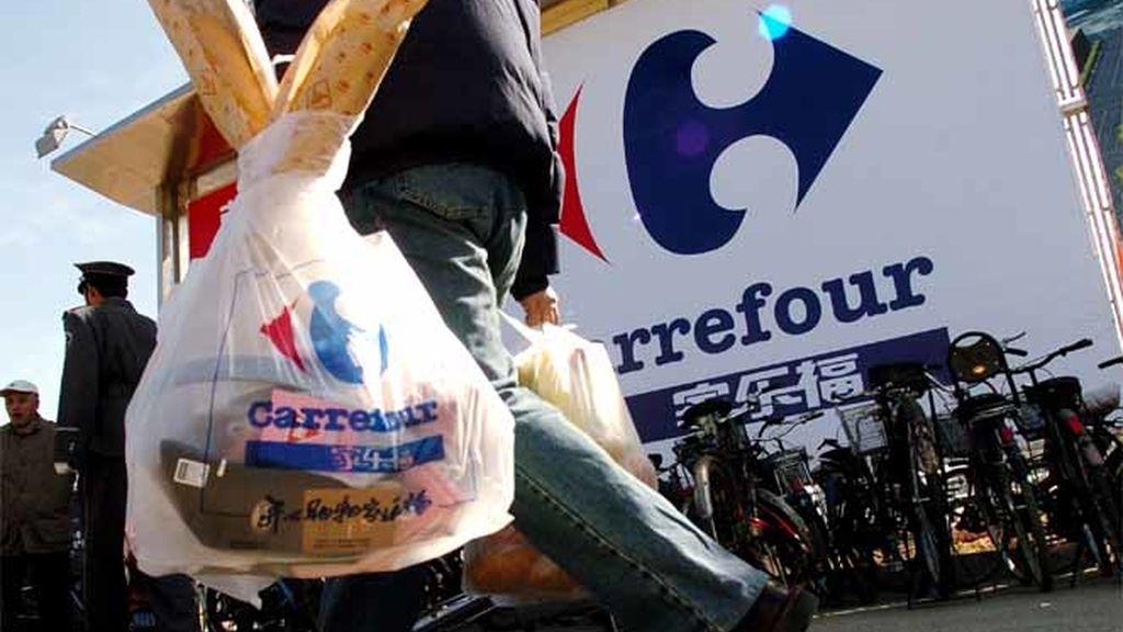 Bolsa de plástico de un solo uso de Carrefour