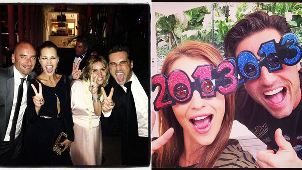 Feliz 2013 desde Tenerife, con Paula Echevarría y Bustamante
