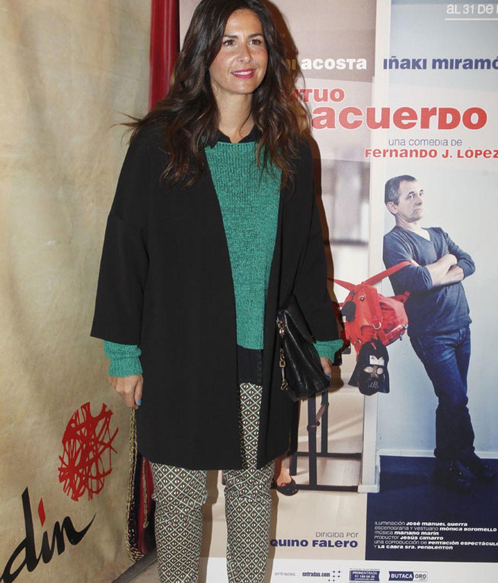 Nuria Roca llegó a la presentación con su marido