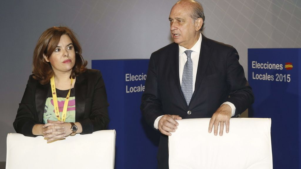 Soraya Sáenz de Santamaría y Jorge Fernández Díaz