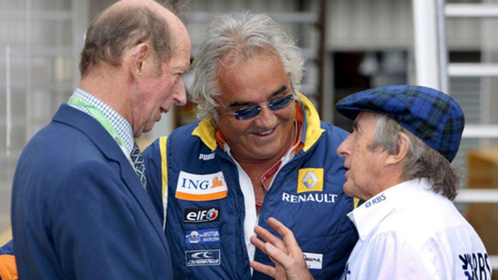 Briatore, Stewart y el duque de Kent