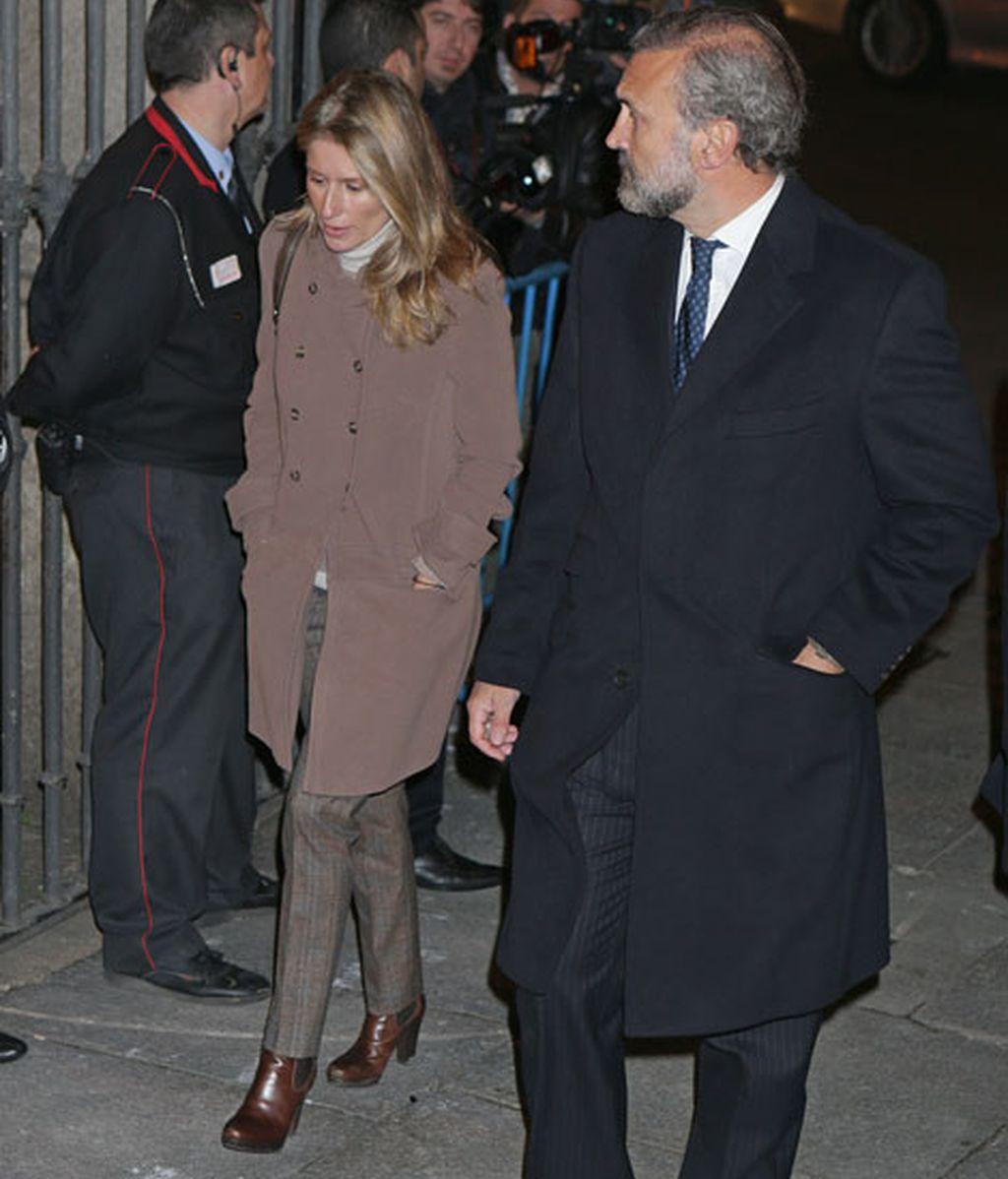 María Chávarri junto a su pareja Javier Soto