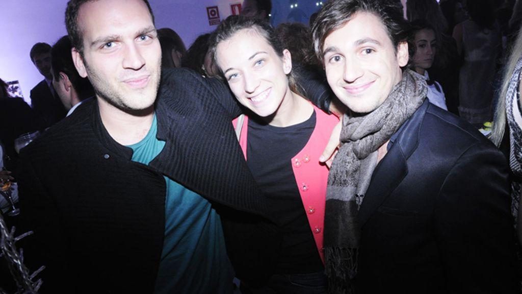 Nico Crison, Celia Calleja y Stephan Abergen
