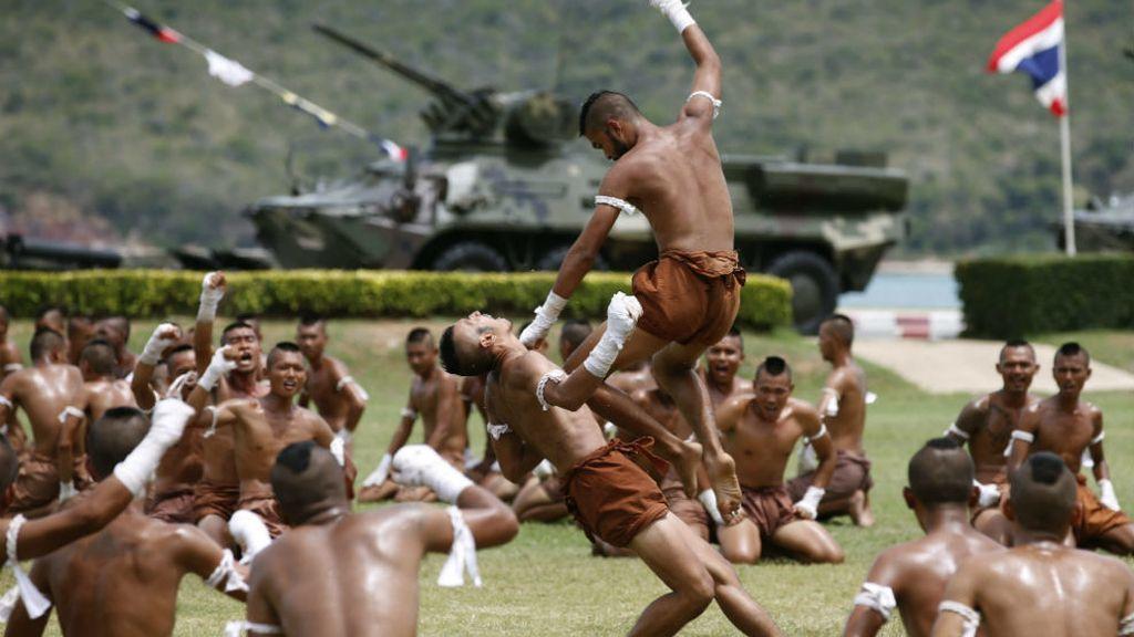 Las artes marciales de los soldados tailandeses
