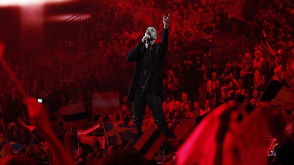 El cantante Andras Kallay Saunders representando Hungría