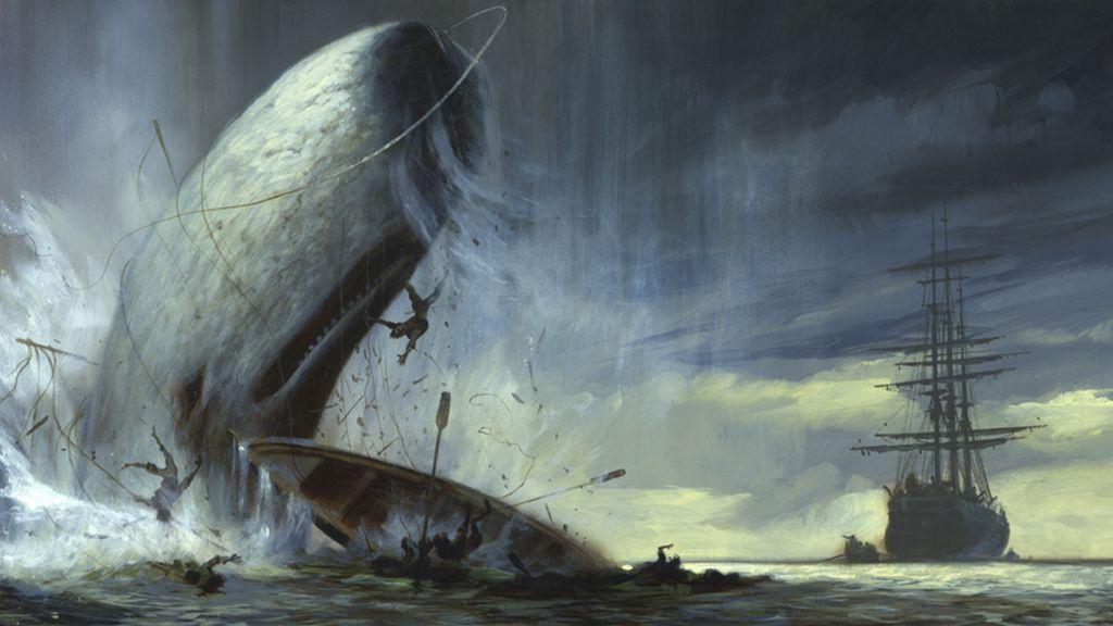 Ilustración libro Moby Dick