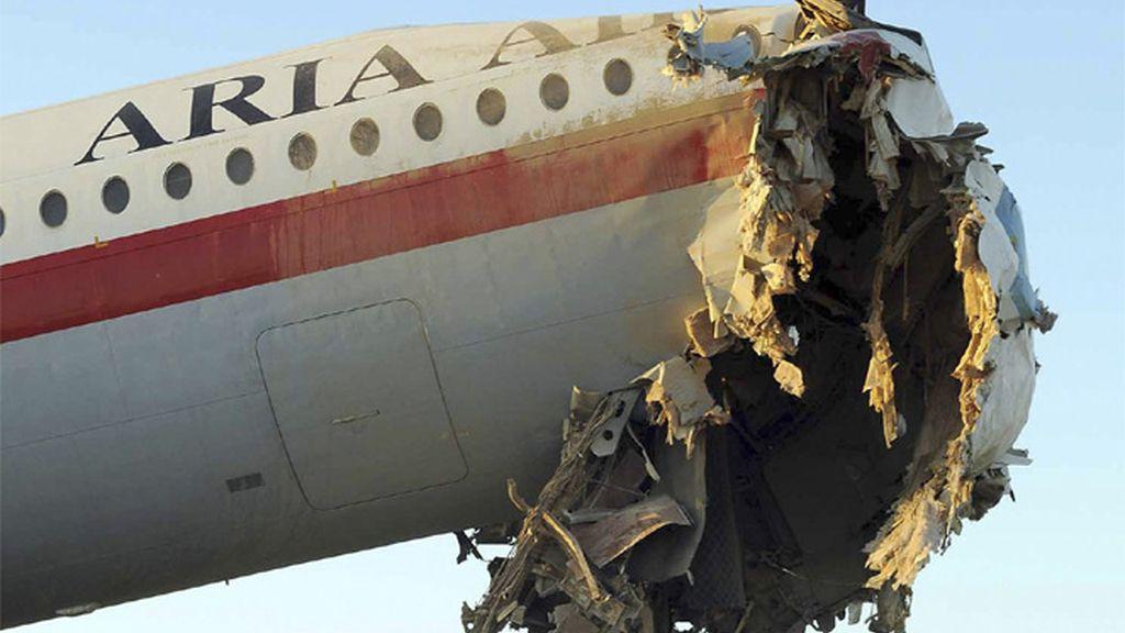 Avión siniestrado en Irán
