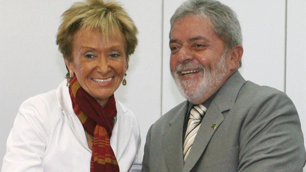 De la Vega con 'Lula' Da Silva en su visita a Brasil