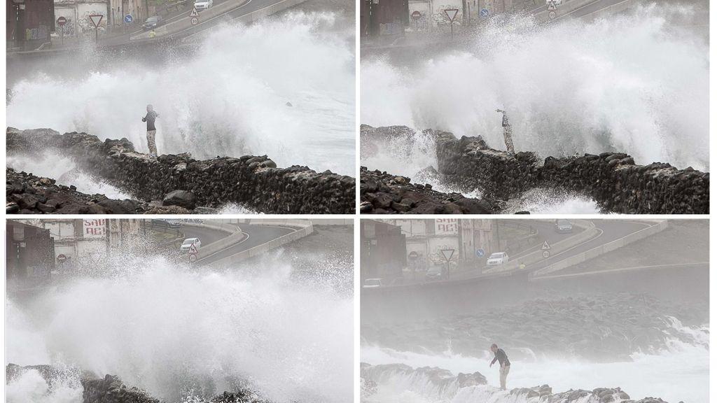 El temporal provoca cortes en carreteras, caída de árboles y desprendimientos en Canarias