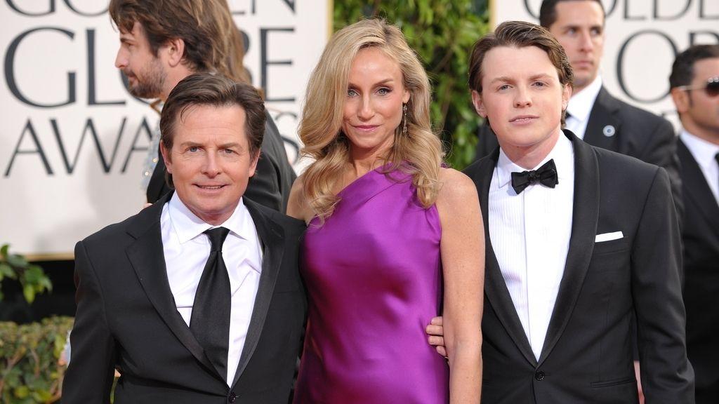 Michael J. Fox, Sam Fox y Tracy Pollan