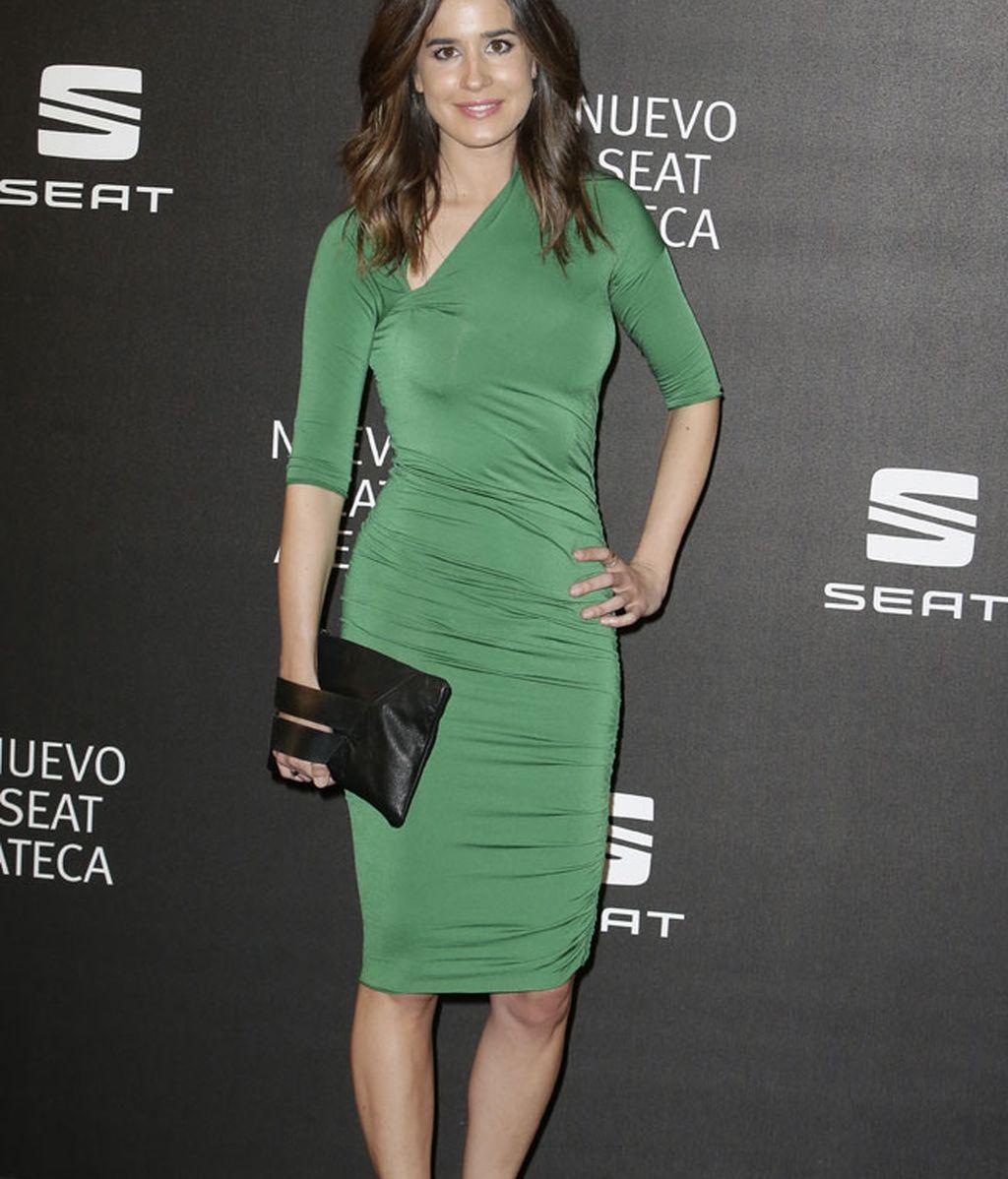 Isabel Jiménez apostó por un vestido verde ceñido