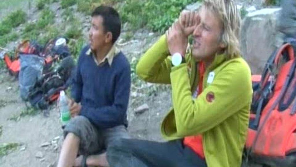 Un caballo se ha despeñado en el Zanskar: comienzan los problemas