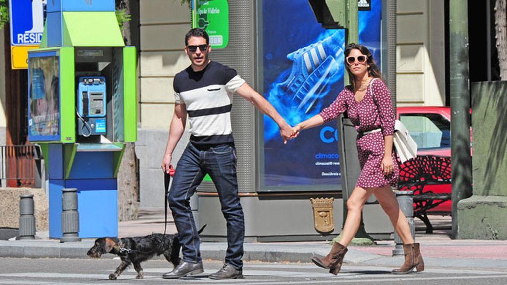 La pareja disfrutó de un buen día en Madrid