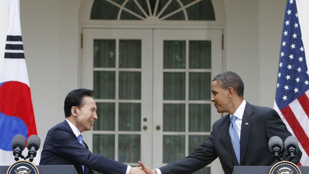 Obama y Lee en la Casa Blanca
