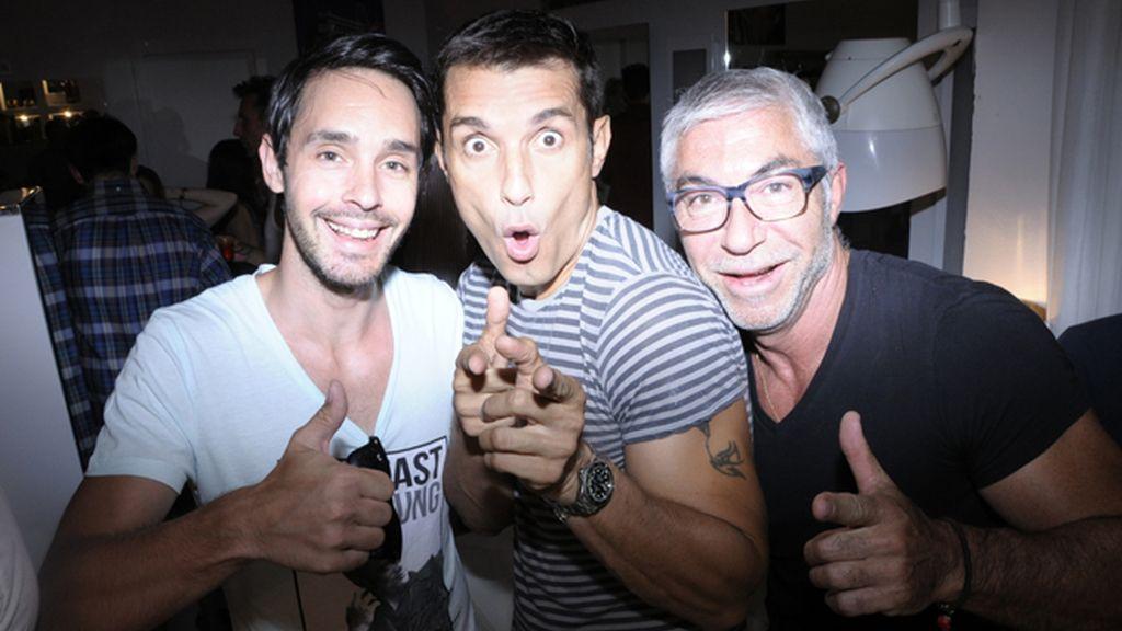 Alain Matelli, Jasús Vázquez y Juan Navarro