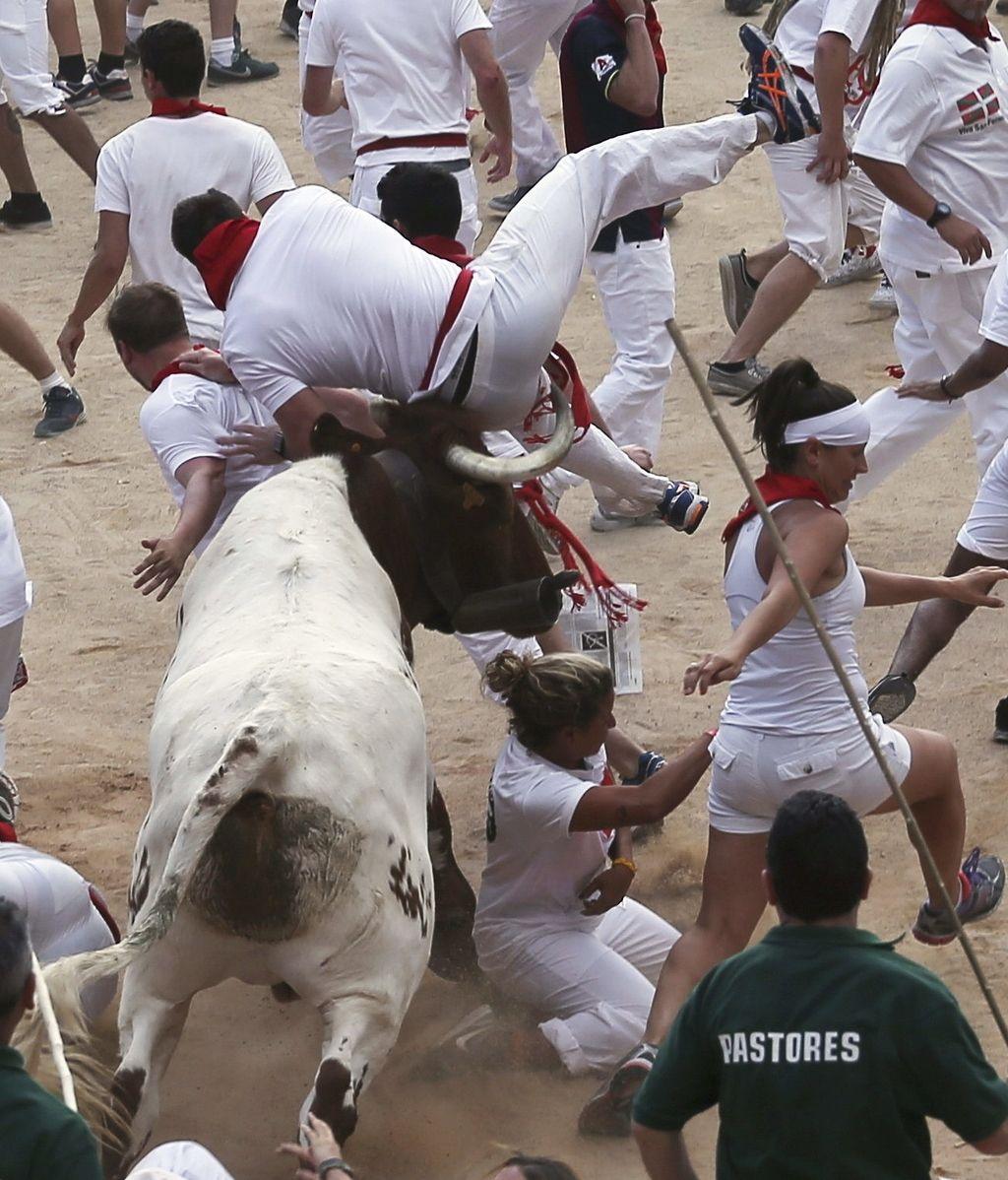 El segundo encierro ha terminado con un herido por asta de toro