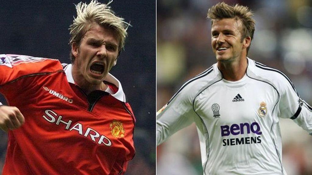 David Beckham: de 7 del United a 23 del Real Madrid