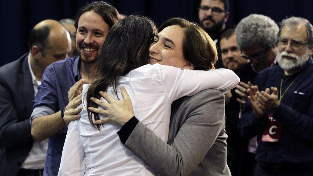 Mónica Oltra, Ada Colau y Pablo Iglesias