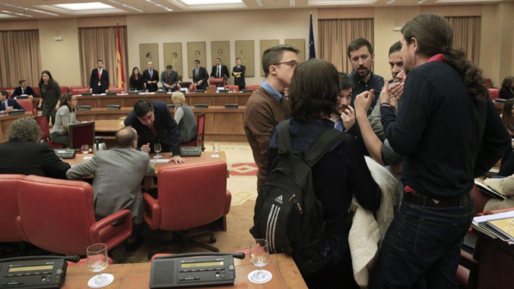 Pablo Iglesias en la Diputación Permanente del Congreso