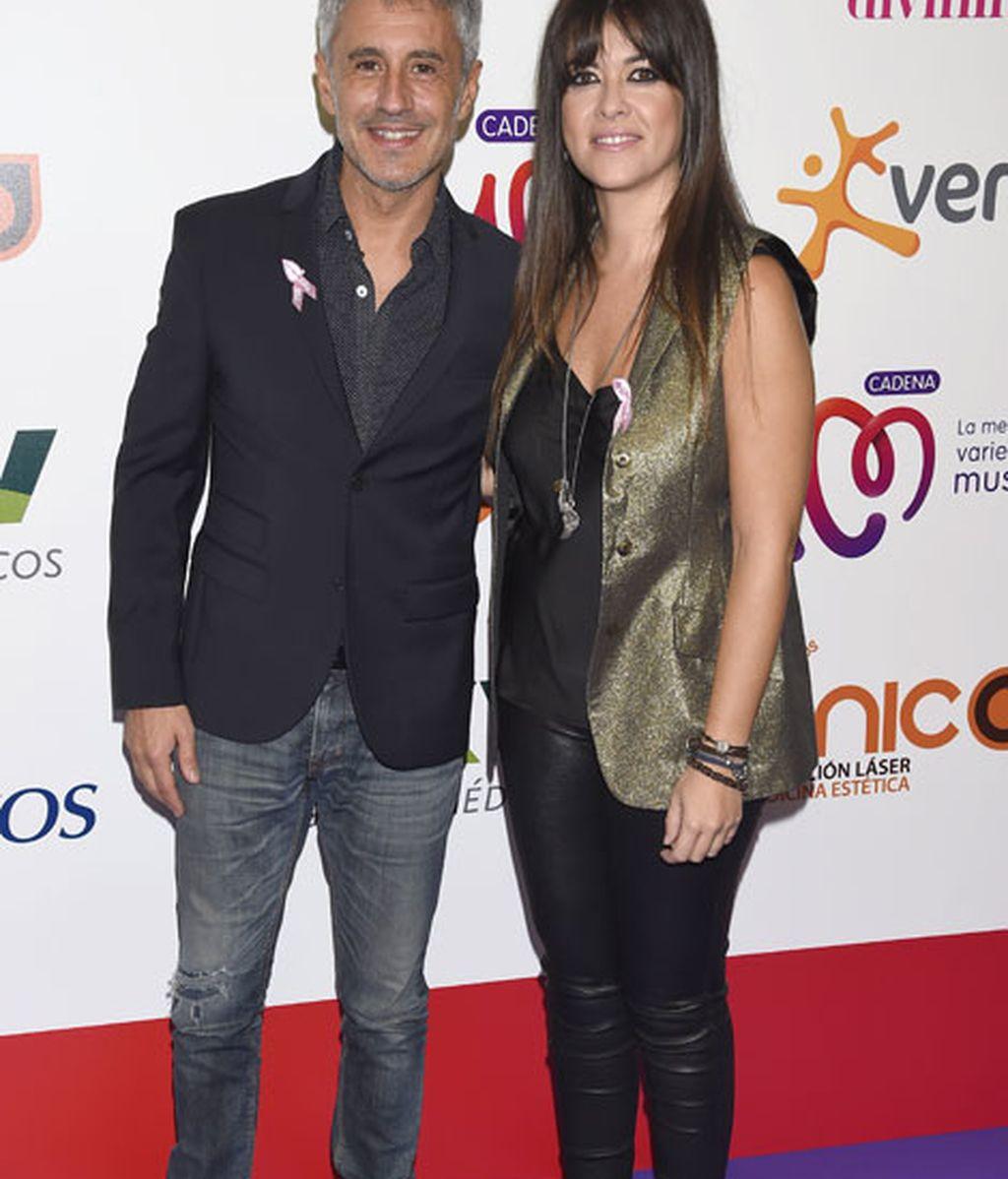 Sergio Dalma y Vanesa Martín posaron juntos en el 'photocall'