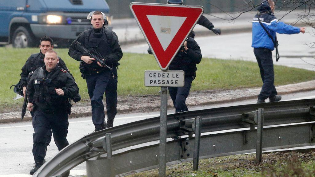 Despliegue policial en el noreste de París