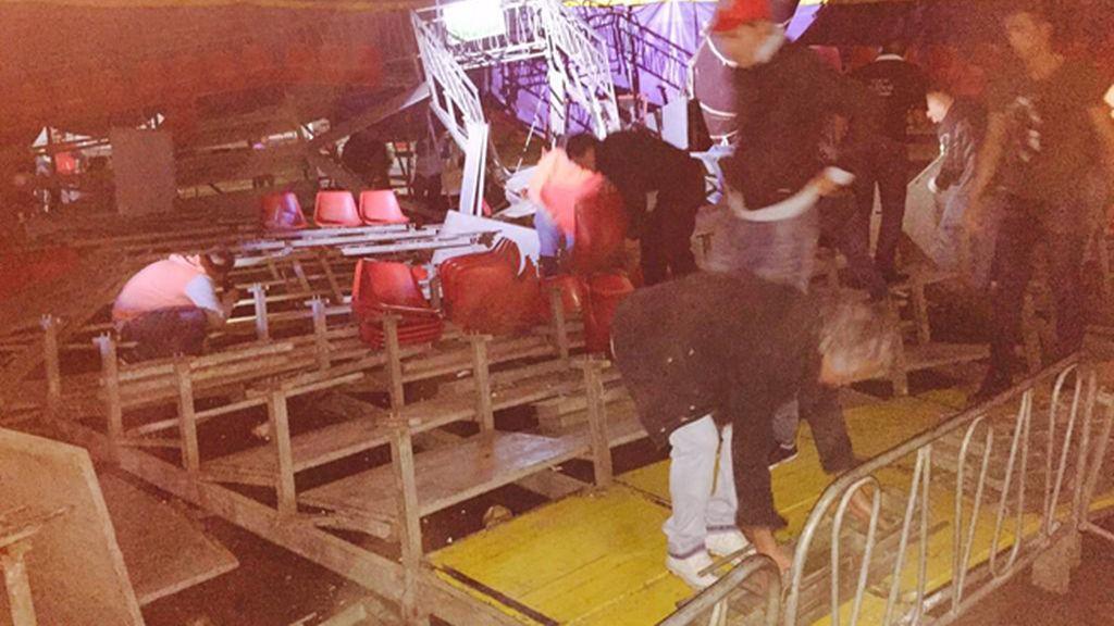 Decenas de heridos por el desplome de las gradas de un circo en Chile