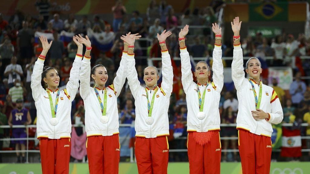 El conjunto español de rítmica se cuelga la medalla de plata en los Juegos Olímpicos