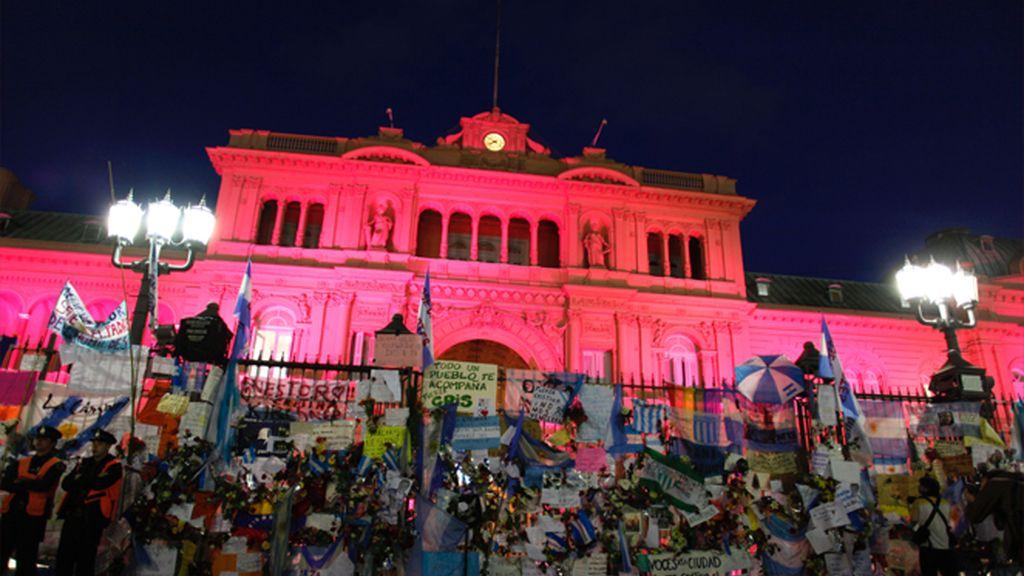 Homenaje a Kirchner en la Casa Rosada
