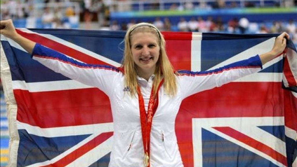 Medalla de oro y récord mundial para Adlington en los 800 libre