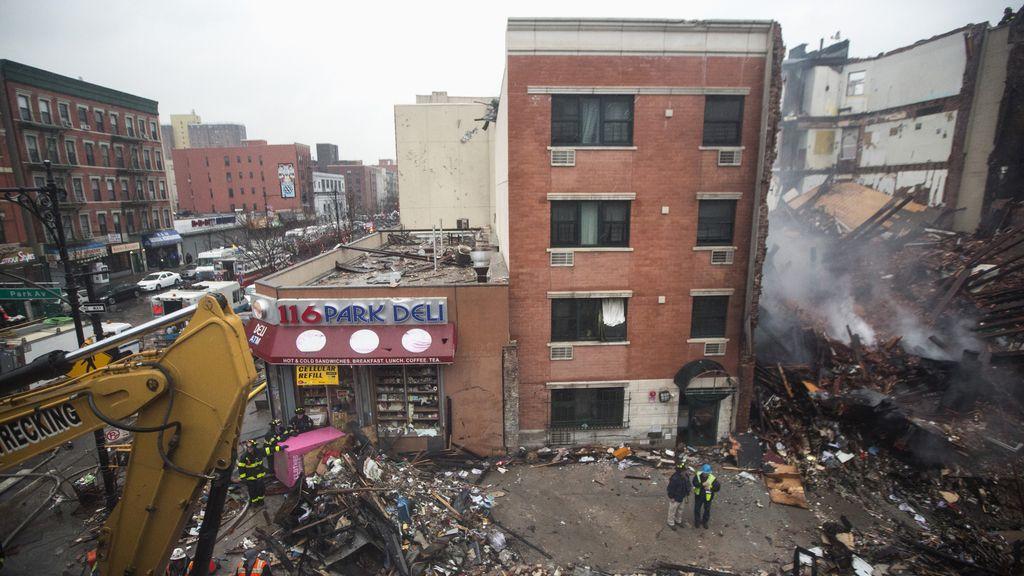 Derrumbe en Harlem. Foto: REUTERS