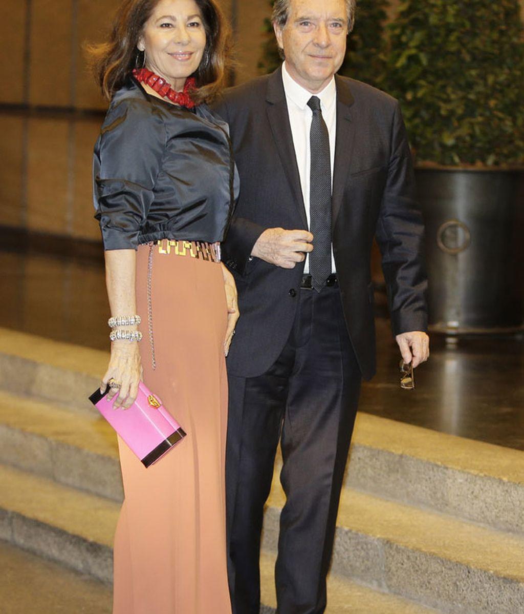 El periodista Iñaki Gabilondo y su mujer, Lola Carretero