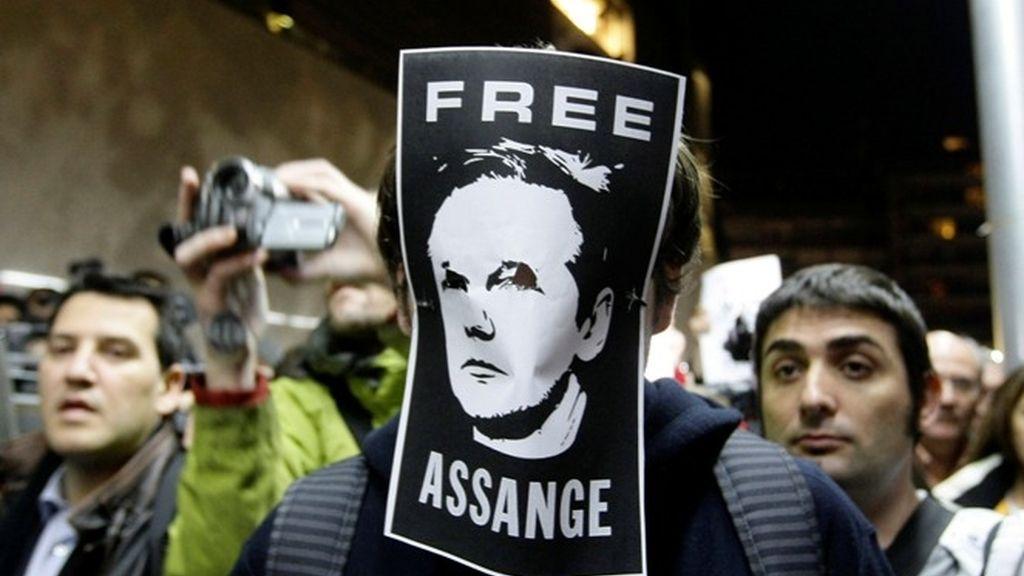 Protestas en todo el mundo en apoyo del fundador de Wikileaks