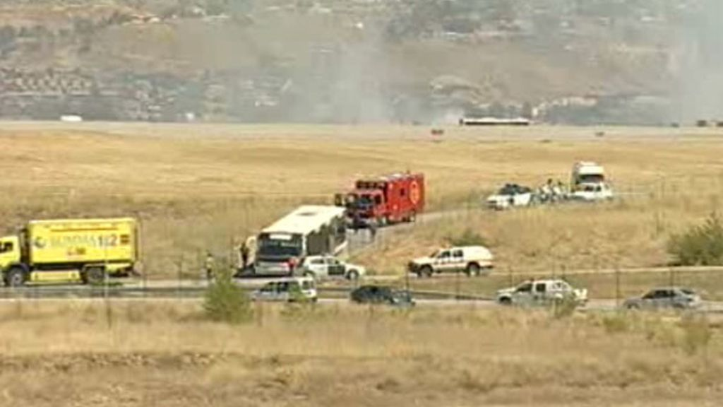 Accidente en Barajas