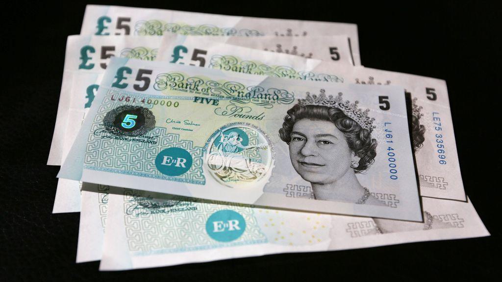 Billete de 5 libras