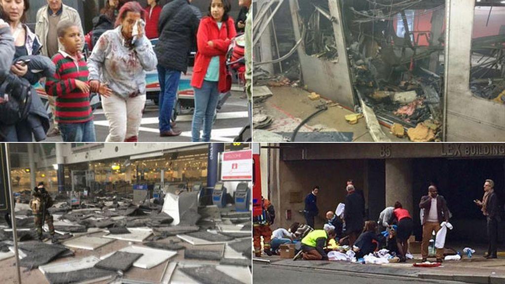 Caos por las explosiones en el aeropuerto y metro de Bruselas