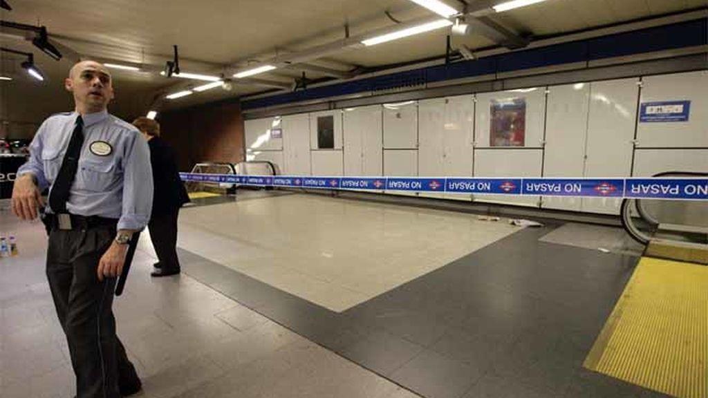 La estación de Moncloa, cerrada