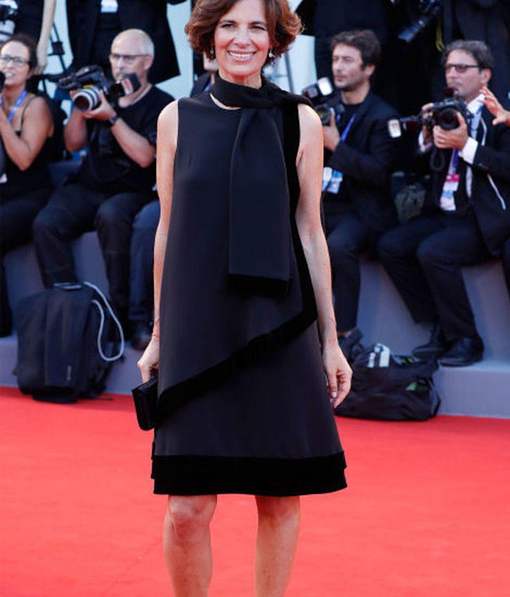 Roberta Armani, asistió a la presentación de la nueva serie de televisión 'El joven Papa'