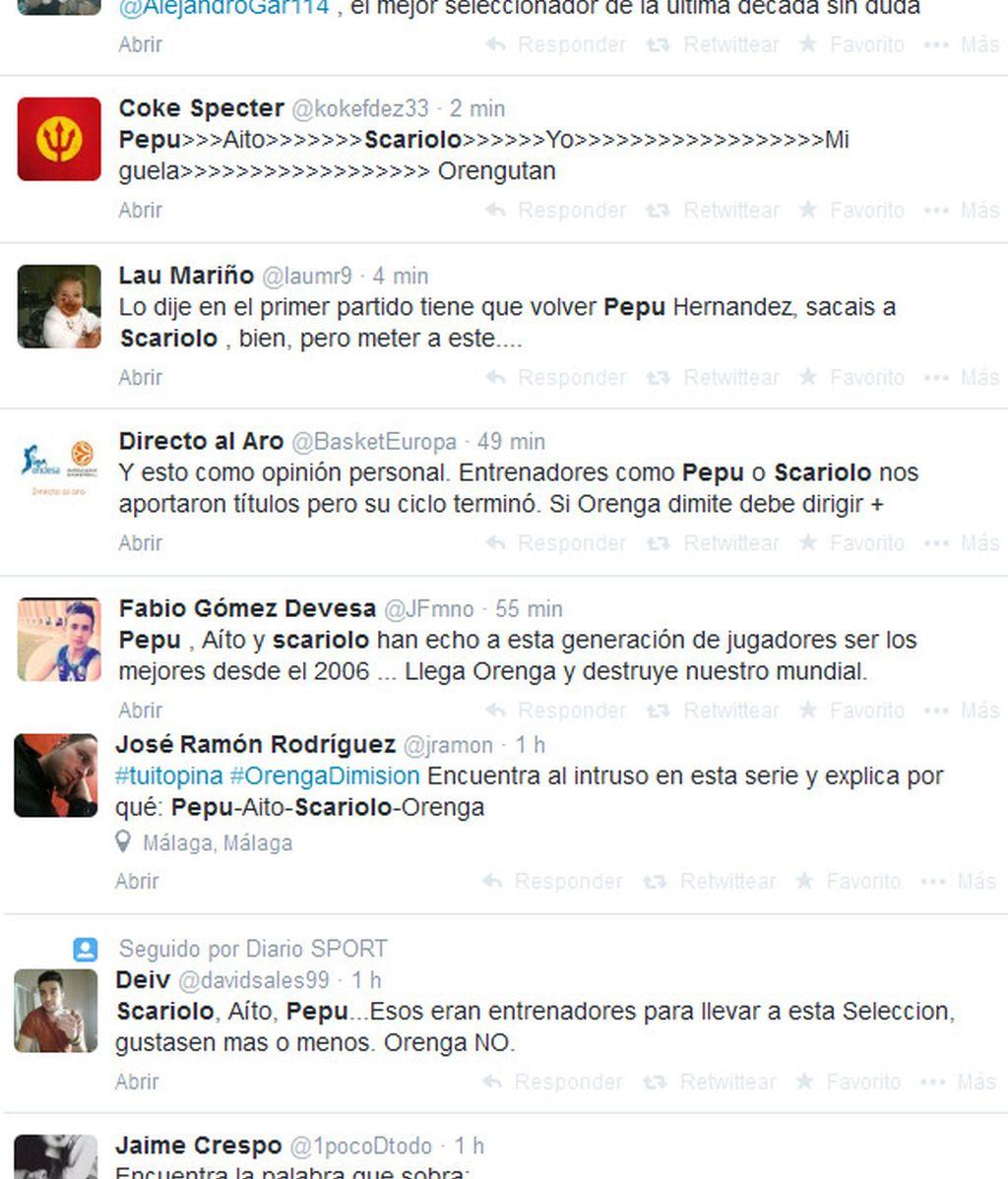 Tweets Scariolo Pepu