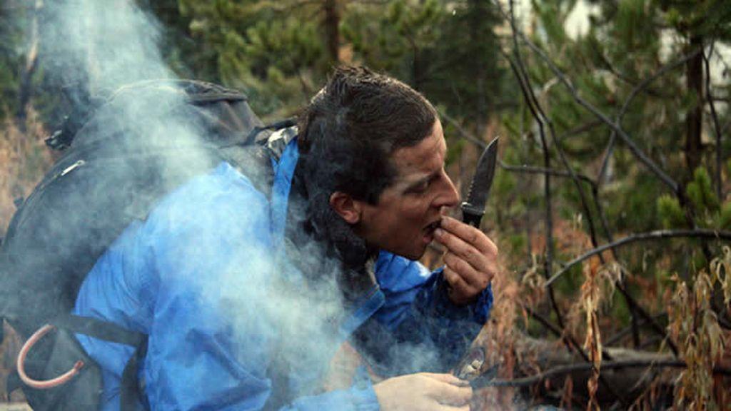 El último superviviente comiendo mejillones en el Hell's Canyon (Oregón)