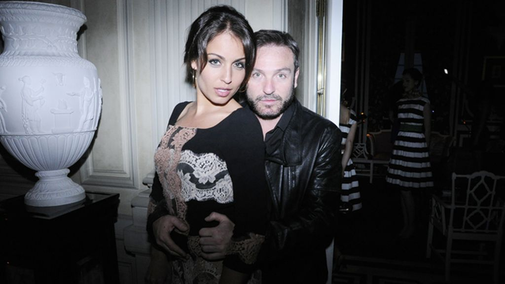 Hiba Abouk, de Dolce & Gabbana, y David Sánchez
